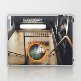 New York City Subway Portal to the Forest Laptop & iPad Skin