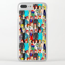 Rock Stars Heroes LV Gray Clear iPhone Case
