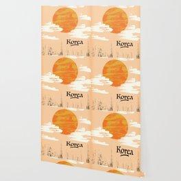 Korean Setting sun block art Wallpaper