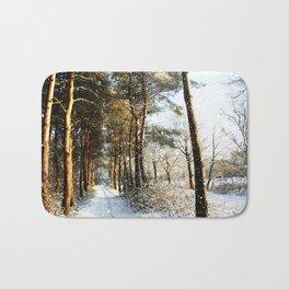 Forest Snow Scene Bath Mat
