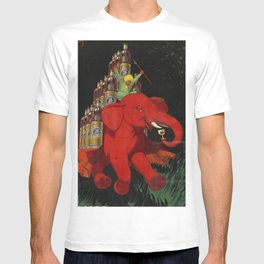 Rhum St Georges - The Red Elephant by Jean d' Ylen T-shirt