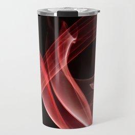 Smoke creations - red swirls Travel Mug