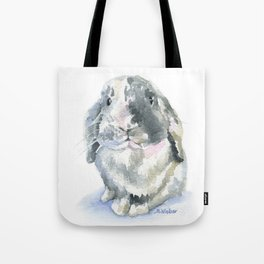 Gray and White Lop Rabbit Tote Bag
