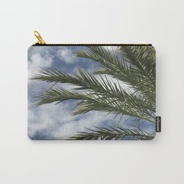 Palm Tree Upshot Framed By Cotton Candy Sky Carry-All Pouch
