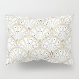 marble and gold art deco scales pattern Pillow Sham