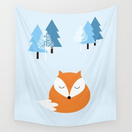 Sweet dreams with fox Wall Tapestry