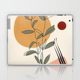 Minimal Line Young Leaves Laptop & iPad Skin