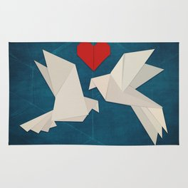 Origami Lovebirds Rug