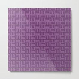 Purple African Boho Ethnic Pattern Metal Print