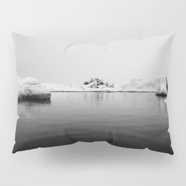 Ice lake black white Pillow Sham