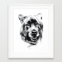 marley Framed Art Prints featuring Marley by Megan Barr