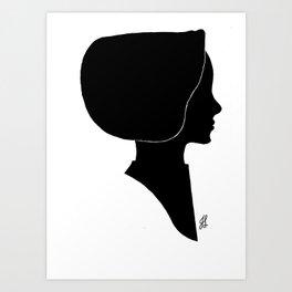 Amish HeadCover Silhouette Art Print