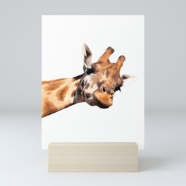 Giraffe portrait Mini Art Print