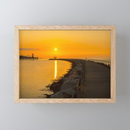 Golden Sunset Framed Mini Art Print
