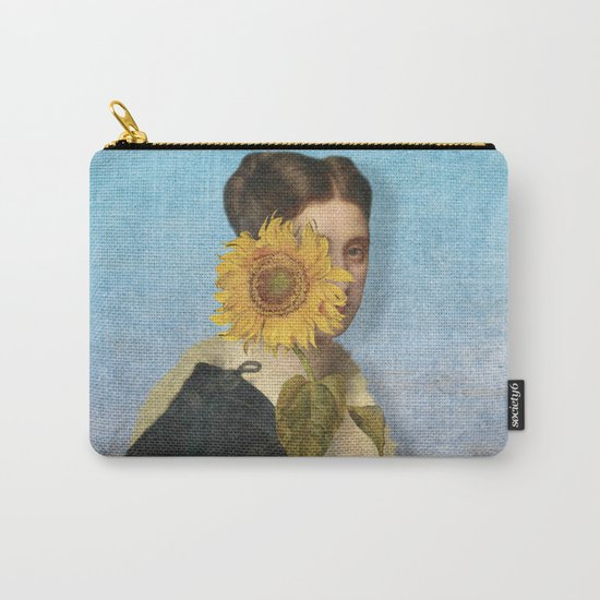 Girl with Sunflower 2 Carry-All Pouch
