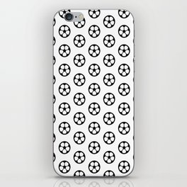 Simple Soccer Ball Motif Pattern iPhone Skin