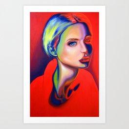 The world far below is on fire, 120-80 cm, 2018, oil on canvas Art Print