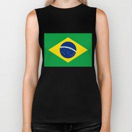 Brazilian National flag Authentic version (color & scale) Biker Tank