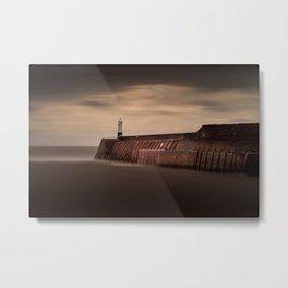 Porthcawl lighthouse Metal Print