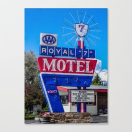 The Royal 7 Motel, Vintage Motel Signs, Bozeman, Montana Canvas Print