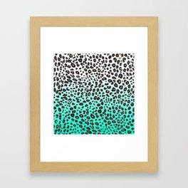 TEAL LEOPARD Framed Art Print