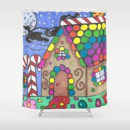 Gingerbread Night Shower Curtain