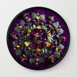 May Flowers Mandala Wall Clock