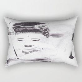 Face Full of Chocolate Rectangular Pillow