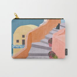 Santorini Pebble Stairs and Houses Carry-All Pouch