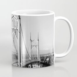 St. John's Bridge Portland Oregon Northwest steel suspension Cathedral Park Coffee Mug