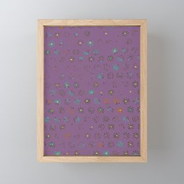 Petroglyph Sun Pattern in faded multicolor purple Framed Mini Art Print