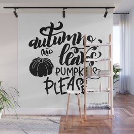 Autumn And Leaves Thanksgiving Wall Mural