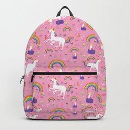 Unicorns Rainbows & Parakeets Backpack