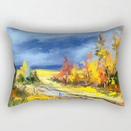 Autumnal road Rectangular Pillow