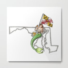 Maryland Mermaid Metal Print