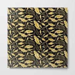 Art Deco Nouveaux Ornate Leaf Pattern Metal Print