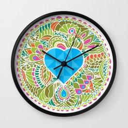 LOVE grows heart lake Wall Clock