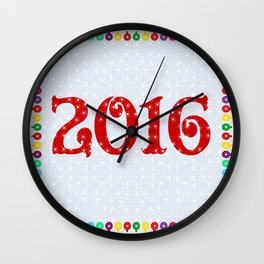 New year 2016  Wall Clock