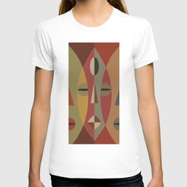 African Tribal Mask No. 3 T-shirt