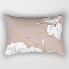 Morning Glory in Gold Rectangular Pillow