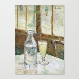 Vincent Van Gogh - Cafe Table with Absinth Canvas Print