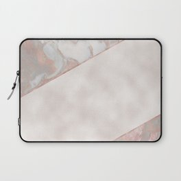 French polished rose gold marble & pearl Laptop Sleeve