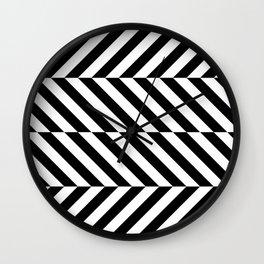 Black and White Op Art Design Wall Clock