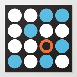 Modern Abstract Dots Canvas Print