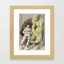 Space Monsters Framed Art Print