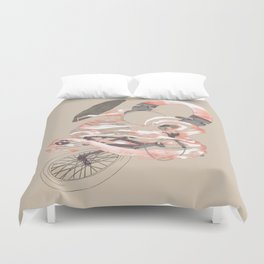 driving with music Duvet Cover