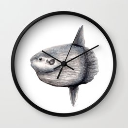 Ocean Sunfish (Mola mola) Wall Clock