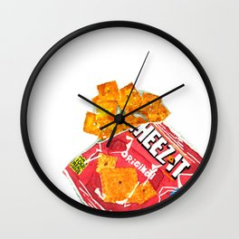 Watercolor Cheese Crackers by Artume Wall Clock