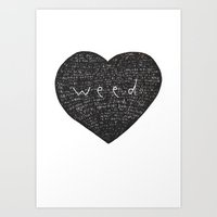 weed Art Prints featuring Weed by David Ernst