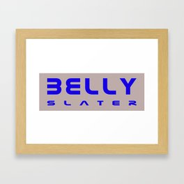 Belly Slater logo Framed Art Print